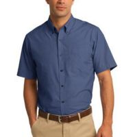 Short Sleeve Crosshatch Easy Care Shirt Thumbnail
